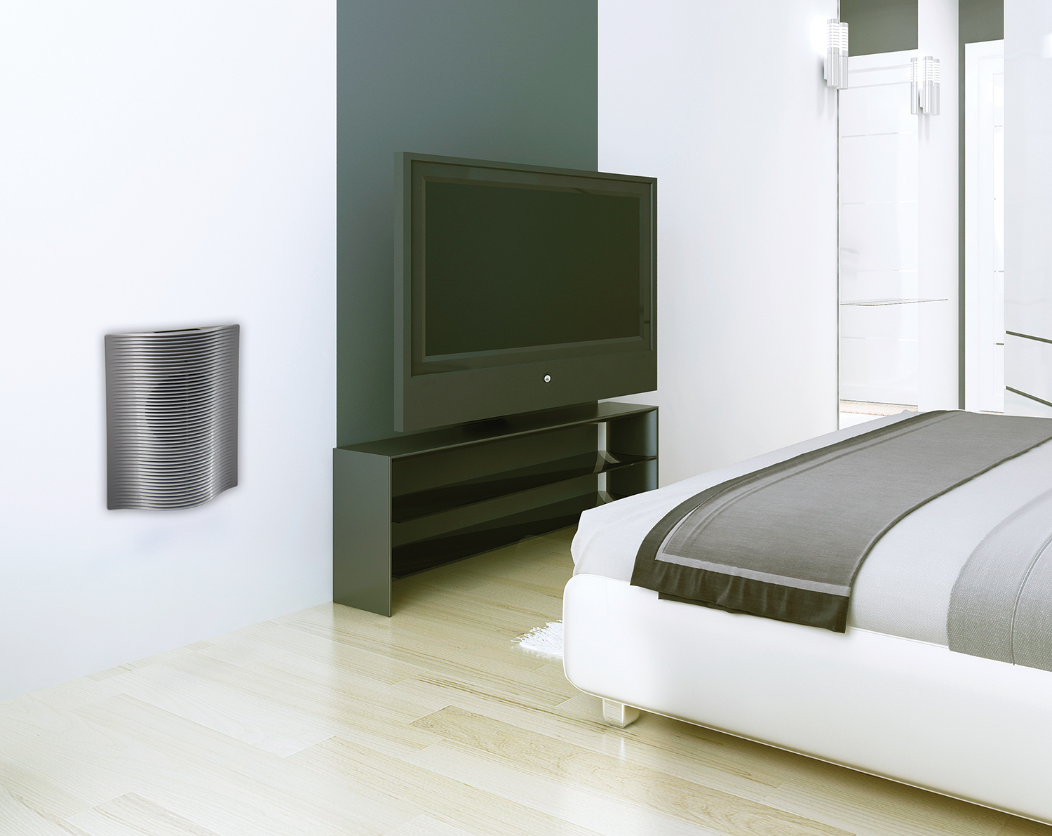 Wall Heater Installed in Bedroom