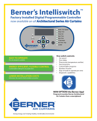 Berner Intelliswitch Digital Controller for Architectural Air Curtains