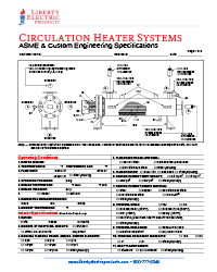 Circulation Heater Specification Data Sheet