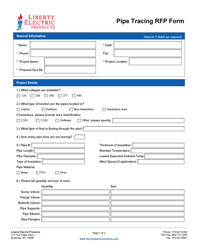 Download the Pipe Tracing RFP Form