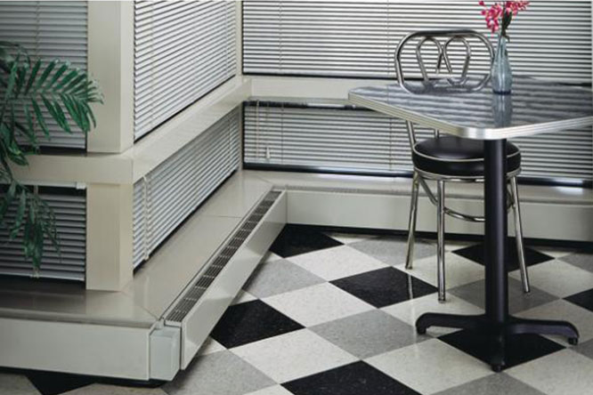 Convection Heater in Dining Room