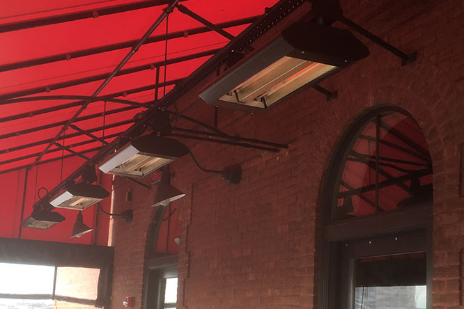 Radiant Heaters Installed