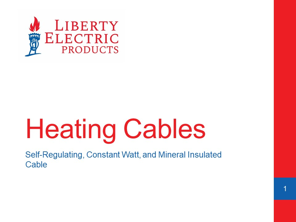 PDH Course - Electric Heating Cable Products Slide Deck